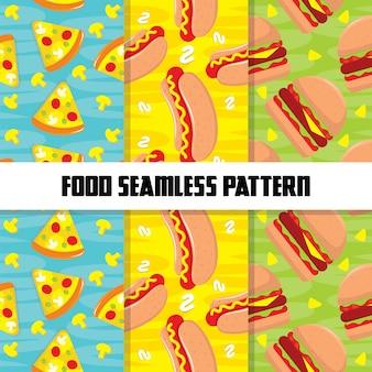 Modèle sans couture coloré de nourriture