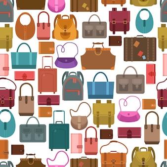 Modèle sans couture coloré de sacs