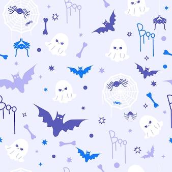 Modèle sans couture de concept halloween drôle mignon