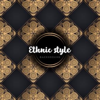 Modèle sans couture de conception ethnique de luxe