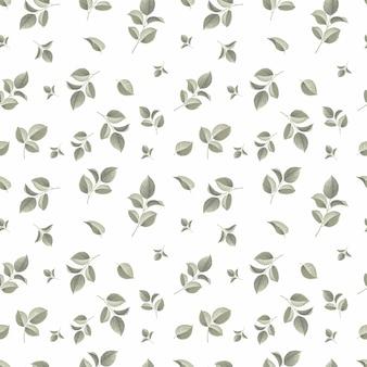 Modèle sans couture avec conception de feuilles de doodle