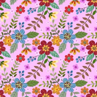 Modèle sans couture de conception de fleurs colorées