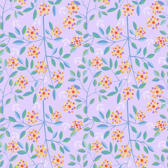 Modèle sans couture de conception de fleurs de fleurs colorées vector.