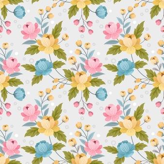 Modèle sans couture de conception de fleurs ornement coloré