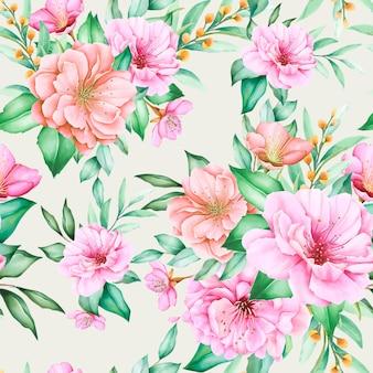 Modèle sans couture de conception florale de fleur de cerisier