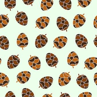 Modèle sans couture de conception de pomme de pin hiver