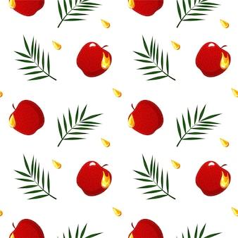 Modèle sans couture avec conception de pommes