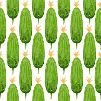 Modèle sans couture de concombre vert.