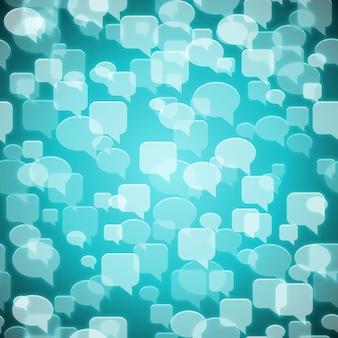 Modèle sans couture de contact social de vecteur blanc sur bleu