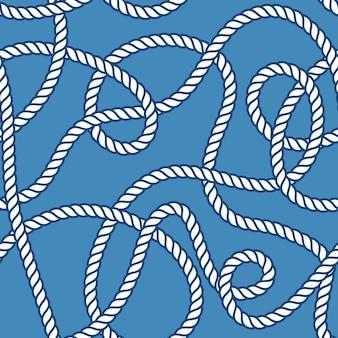 Modèle sans couture de corde et de noeuds marins