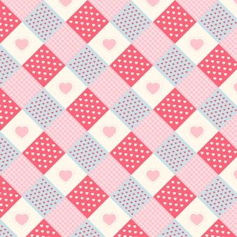 Modèle sans couture de correctifs kawaii mignons