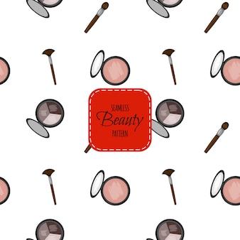 Modèle sans couture avec des cosmétiques décoratifs. style de bande dessinée. illustration vectorielle.
