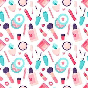 Modèle sans couture de cosmétiques de maquillage