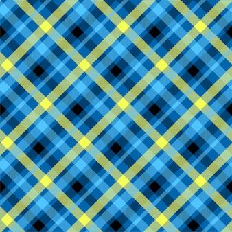 Modèle sans couture de couleur bleu tartan