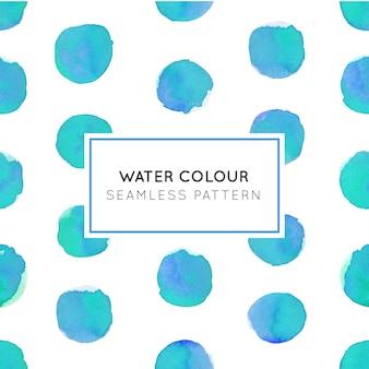 Modèle sans couture de couleur de l'eau blue dot