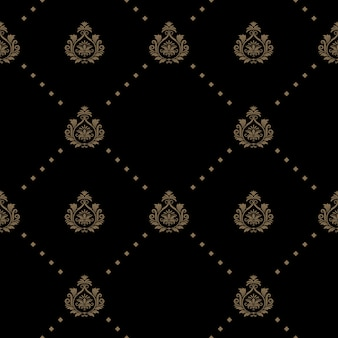 Modèle sans couture de couleur noire. art de décoration de papier peint,