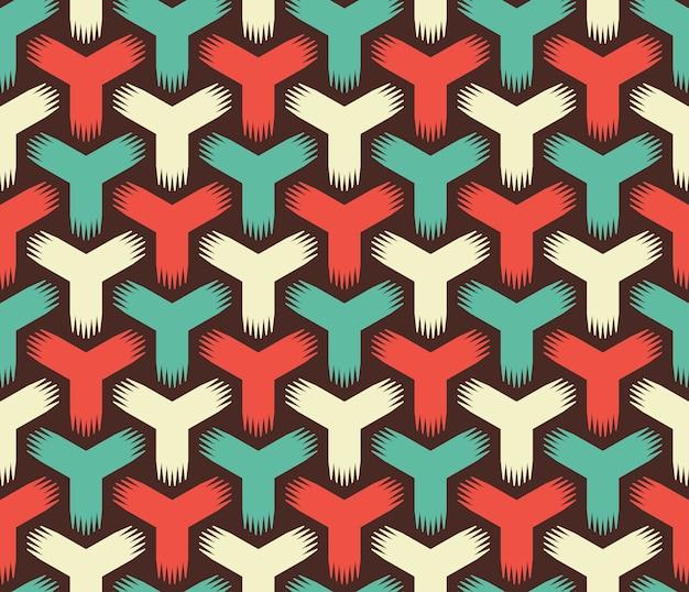 Modèle sans couture de couleur rétro abstraite