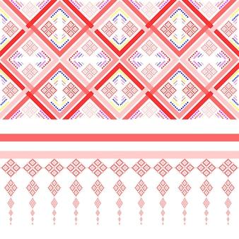 Modèle sans couture de couleur rétro fantaisie impressions d'art géométrique abstrait