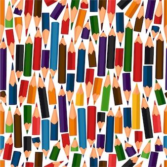 Modèle sans couture avec des crayons de couleur