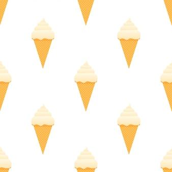 Modèle sans couture de crème glacée.