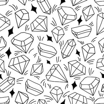 Modèle sans couture avec cristaux brillants