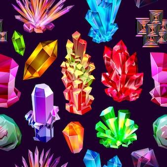 Modèle sans couture de cristaux