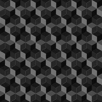 Modèle sans couture de cube abstrait