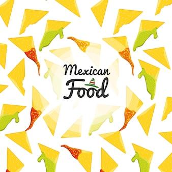 Modèle sans couture de cuisine mexicaine de cuisine