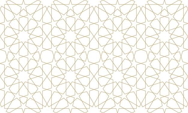 Modèle sans couture dans un style arabe authentique. illustration vectorielle