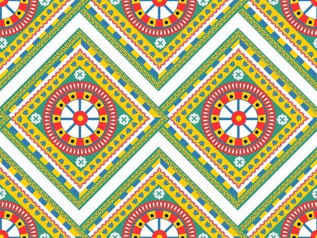 Modèle sans couture dans le style carretto siciliano. impression de texture répétitive sicilienne, arrière-plan. illustration vectorielle