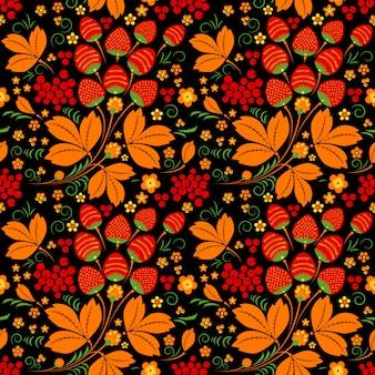 Modèle sans couture dans le style folklorique russe