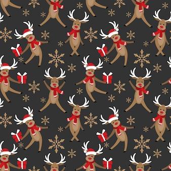 Modèle sans couture de Noël vacances saison.