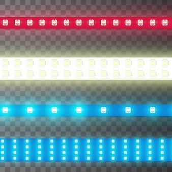 Modèle sans couture décoration bande lumineuse