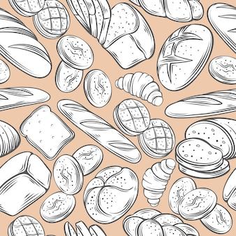 Modèle sans couture décorative de boulangerie