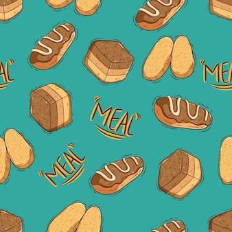 Modèle sans couture de délicieux biscuits et biscuits mignons