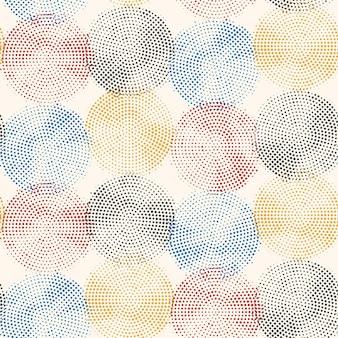 Modèle sans couture de demi-teintes abstraites cercles