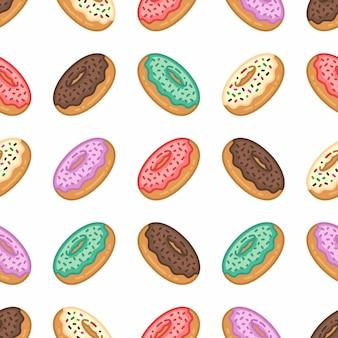 Modèle sans couture de dessert sucré coloré