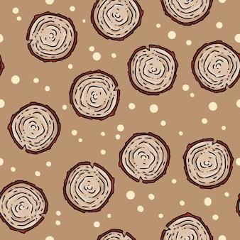 Modèle sans couture de dessin animé mignon automne souche.