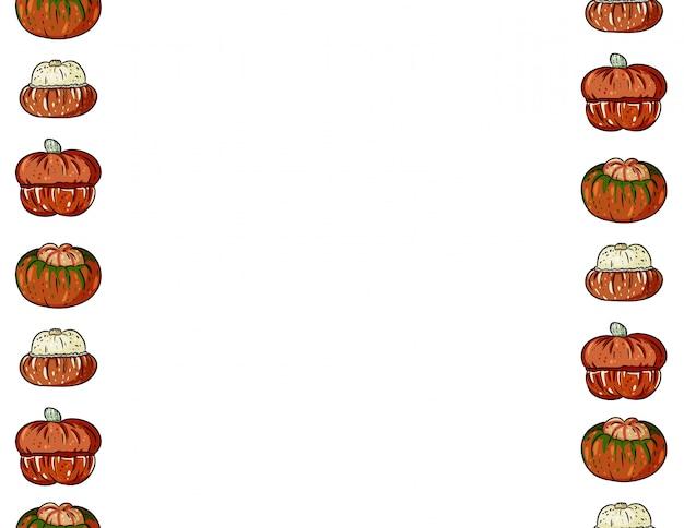 Modèle sans couture dessin animé mignon citrouilles colorées. bannière de décoration halloween