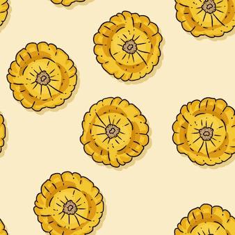 Modèle sans couture dessin animé mignon de citrouilles.