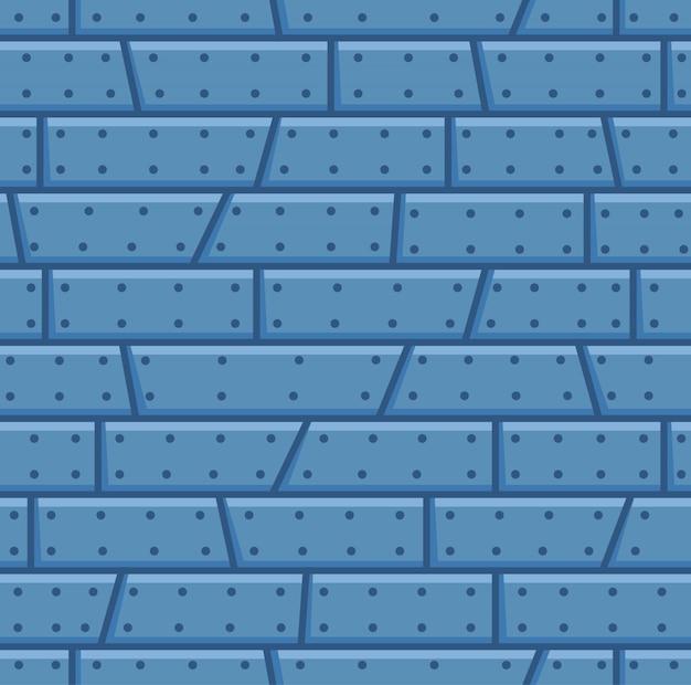 Modèle sans couture de dessin animé de mur en acier