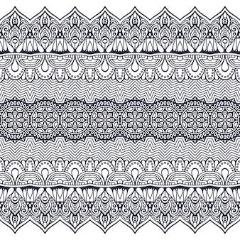 Modèle sans couture. dessiné à la main . islam, arabe