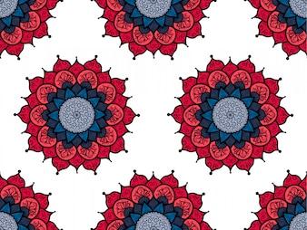 Modèle sans couture dessiné main Mandala. Culture arabe, indienne, turque et ottomane decoratio