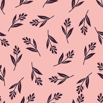 Modèle sans couture dessiné main de simple floral