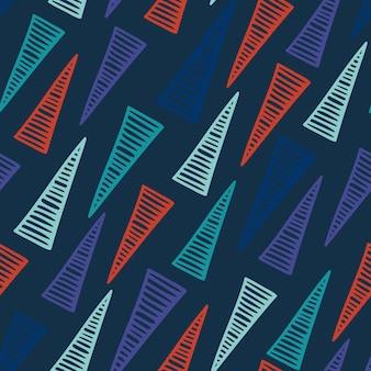 Modèle sans couture dessiné main triangle