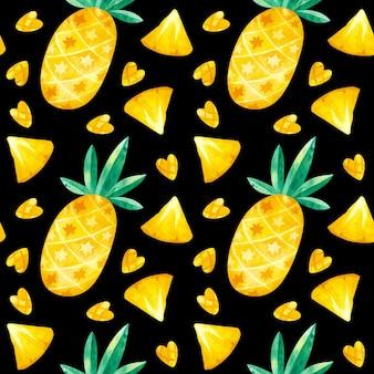Modèle sans couture de dessins ananas
