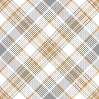 Modèle sans couture diagonale de tartan or platine