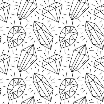 Modèle sans couture avec diamants.