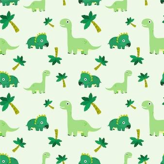 Modèle sans couture de dinosaure mignon