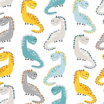 Modèle sans couture de dinosaure